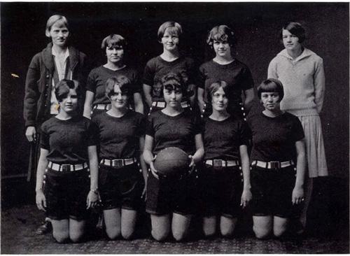 Girls Basketball Team 1927