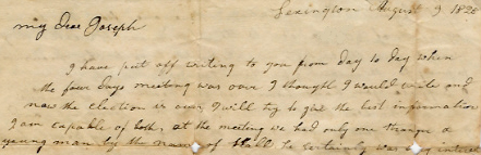 Rhoda Anderson's 1828 letter