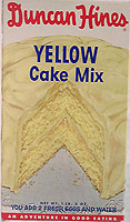 Duncan Hines Yellow Cake Mix Box
