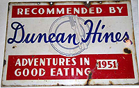 Recommended by Duncan Hines sign