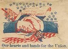 Union support on a Civil War-era envelope