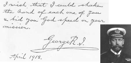 World War I message from King George V