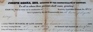 Kentucky Land Grant