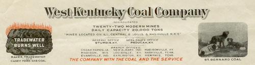 West Kentucky Coal Company letter, 1927