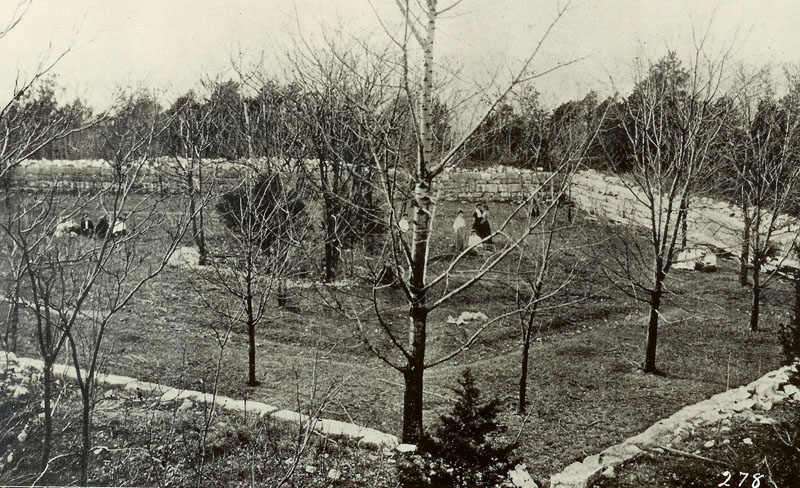 Remnants of the Civil War fort on WKU's campus, about 1907
