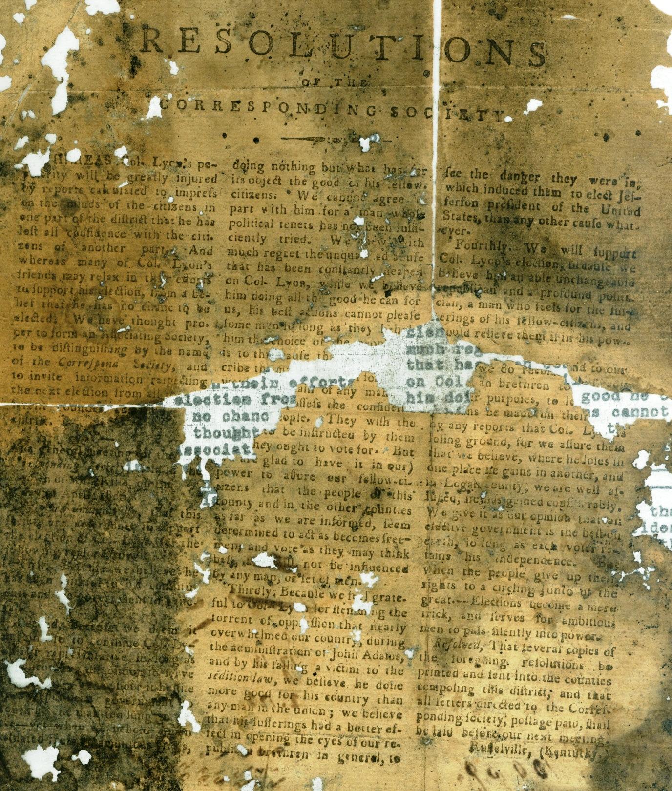 Matthew Lyon: The Sedition Act's First Victim