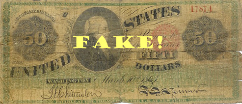 Baker Smith's counterfeit $50 note