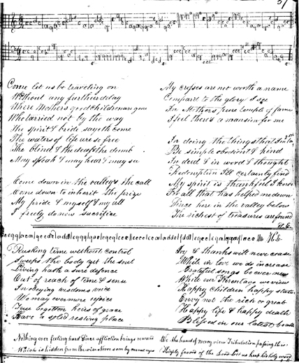 Song from Betsy Smith's Shaker hymnal (MSS 143, Box 1, Folder 3)