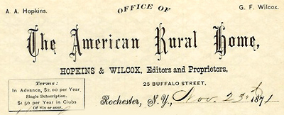 American Rural Home letterhead