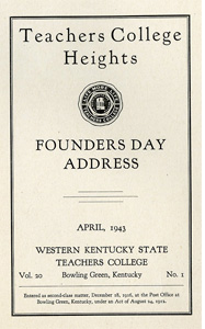 Founders Day Address