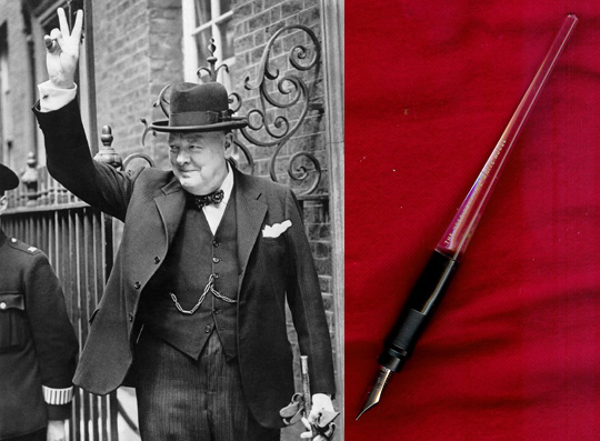 Winston Churchill; signing pen for his honorary U.S. citizenship proclamation
