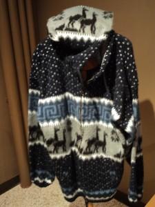 Alpaca wool coat from Ecuador