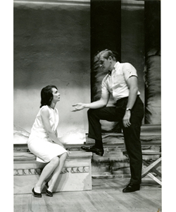 Mary Ray Oaken and Charles Napier in Love Among the Ruins. This was Charles Napier's first stage appearance. Think of a television show from the late 1970s to the early 1990s and he was probably in it at some point. See his extensive filmography at IMDB.