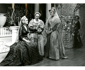 Alice Chumbley (far left), Former Miss Kentucky, as Hero in Much Ado About Nothing, 1959/1960