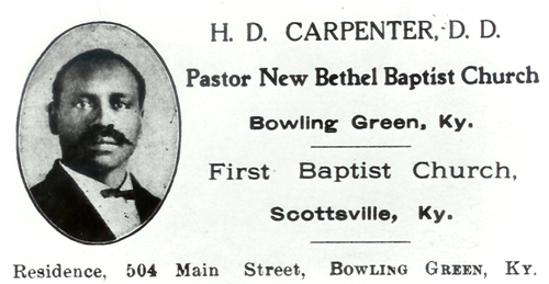 Reverend Henry D. Carpenter was a leader in the Bowling Green NAACP.