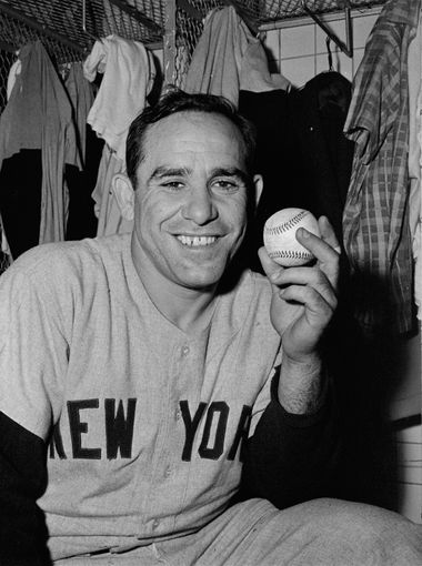 Yogi Berra, playing for the New York Yankees