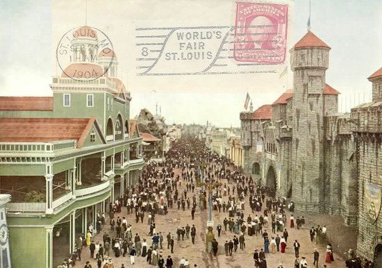 The Pike, a mile-long stretch of carnival-style attractions at the St. Louis World's Fair.