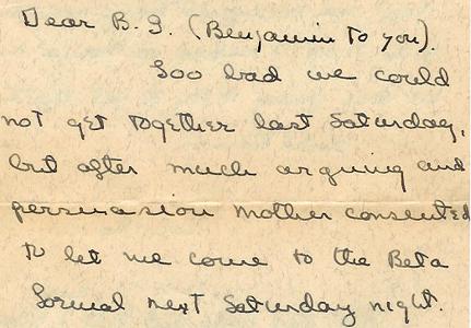 A letter to B.G. Davidson