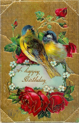 1910-era birthday postcard
