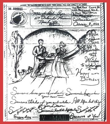 V-mail birthday greetings, 1944