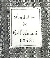 Fondation de Gethsemani cover