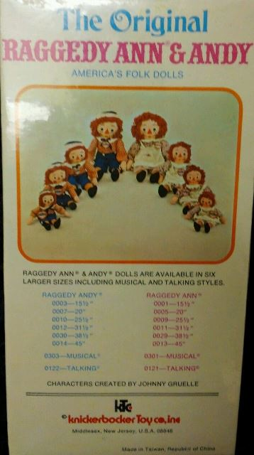 The back of this original box on eBay shows the many sizes of dolls.