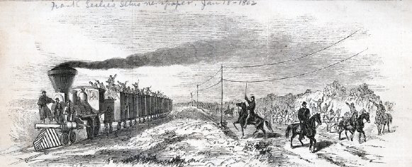 A Civil War era illustration from Frank Leslie's.