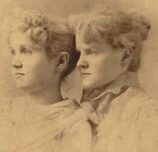 May Carpenter (right), with a friend