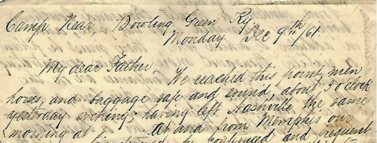 Alexander Morse's letter from Bowling Green