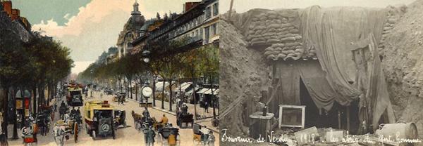 Paris at peace; Verdun, 1918
