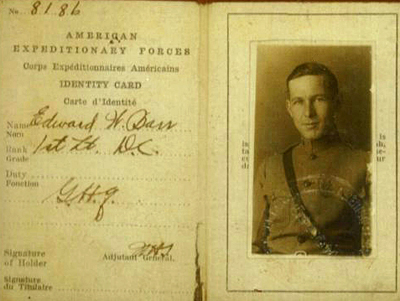 E. Wallace Barr's Army ID