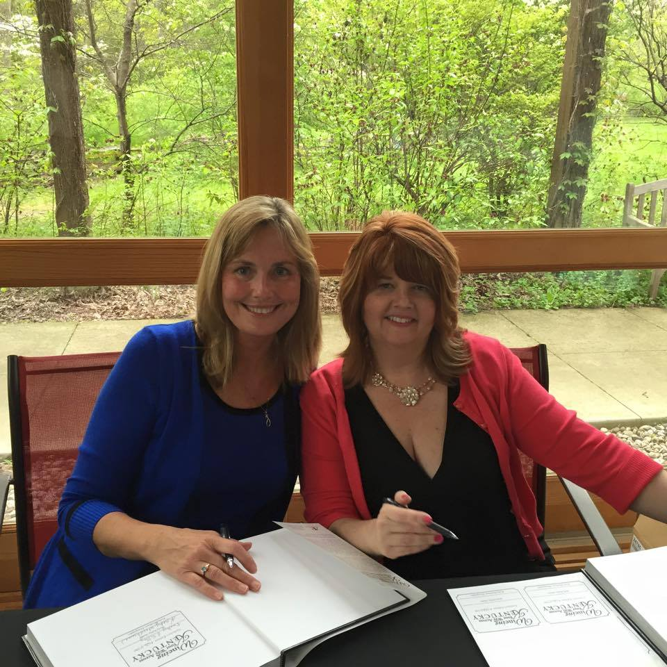 (Left to right) Kathy Woodhouse, photographer, & Becky Kelley, author