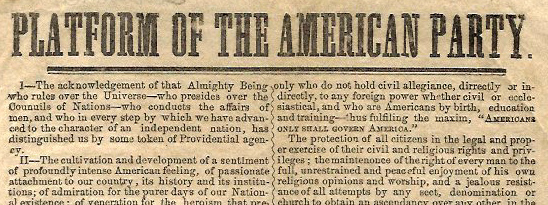 American Party broadside (Kentucky Library Research Collections)