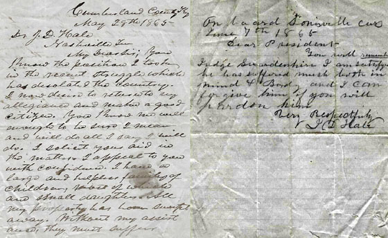 Erasmus Gardenhire letter
