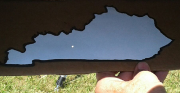 pinhole projected image on map of Kentucky