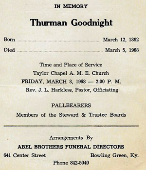 Abel Brothers funeral program (Kentucky Library Ephemera Collection)