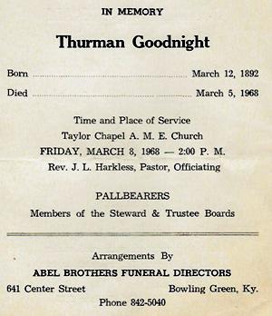 Abel Brothers funeral program (Kentucky Library Ephemera Collection)