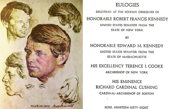 Norman Rockwell painting; RFK eulogy program