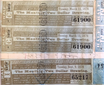 Richard Vance's Louisiana lottery tickets