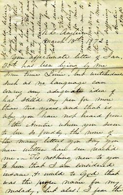 Anna Kirkland's letter