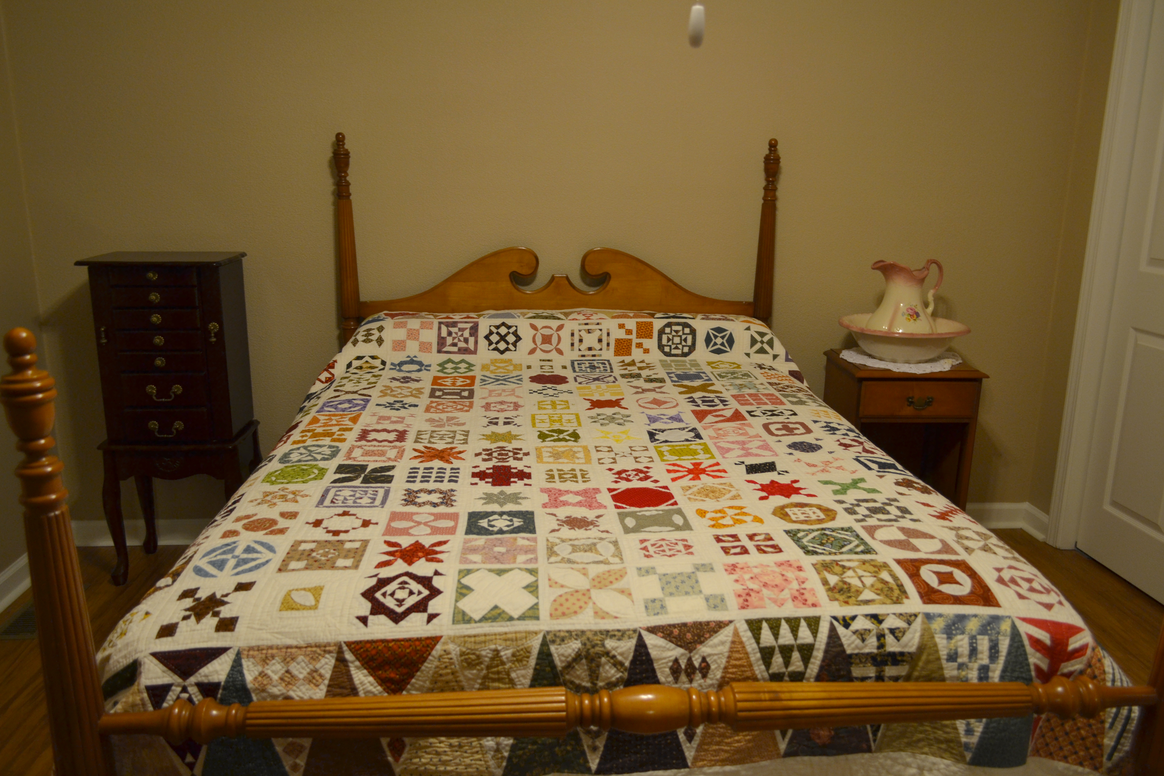"Donna Patterson's finished ""My Dear Jane"" quilt"