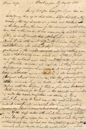1833 Joseph Baldwin letter