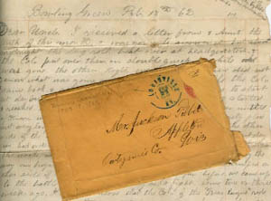 Frank Phelps letter, 1862