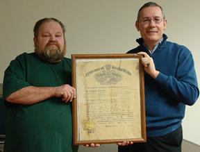Mike Glenn and Jonathan Jeffrey, Manuscripts & Folklife Archives Coordinator, Kentucky Library & Museum