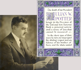 Julian Whitfield Potter, 1889-1926