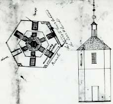 Proposed (but never built) Warren County courthouse, 1807
