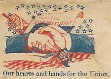 Union support on a Civil War-era envelope