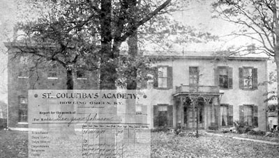 St. Columba Academy and Georgia Johnson's report card
