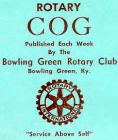 Bowling Green Rotary Club's 1962 newsletter