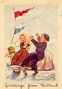 A postcard from Mia Kleijnen, 1945